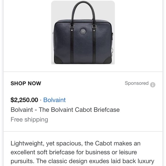 93e2d97ea Bolvaint Bags   The Cabot Briefcase Nwt   Poshmark